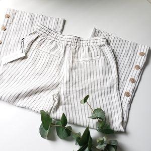 NWT Rachel Zoe wide crop linen pants